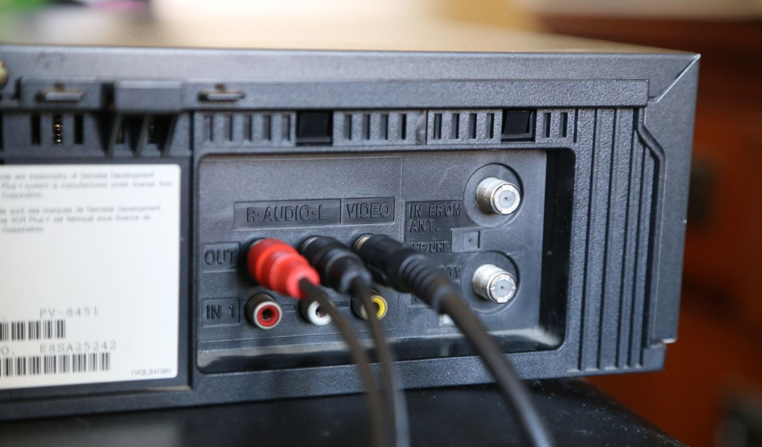 VCR connections