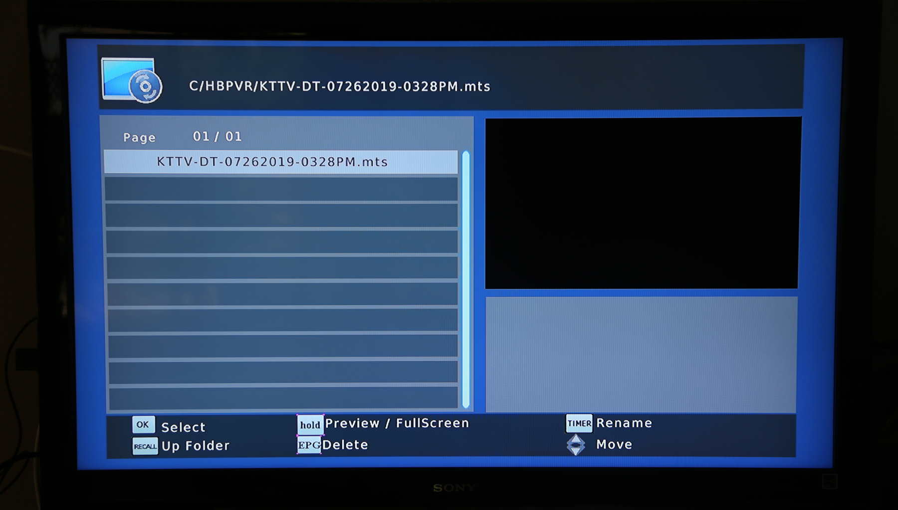 Page showing recording I made with the HOMEWORX converter box