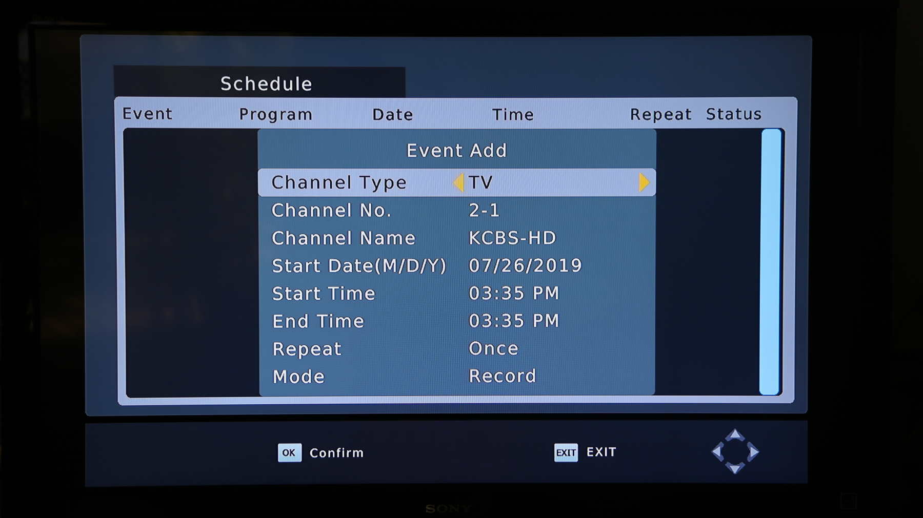 How to set up scheduled recordings on the HOMEWORX DVR