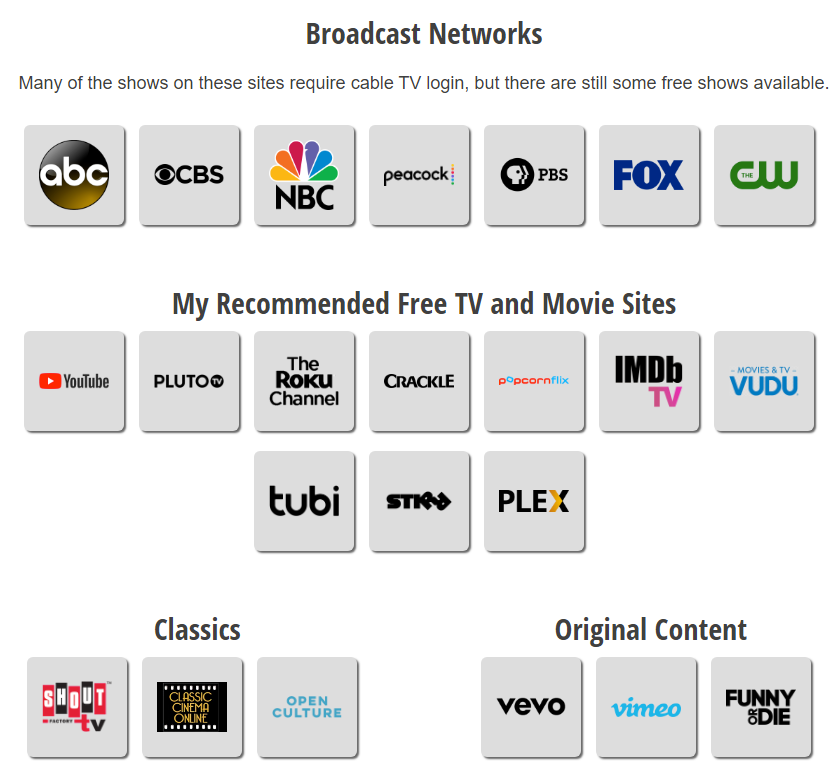 The Internet Remote Control: Free TV and Movies Online