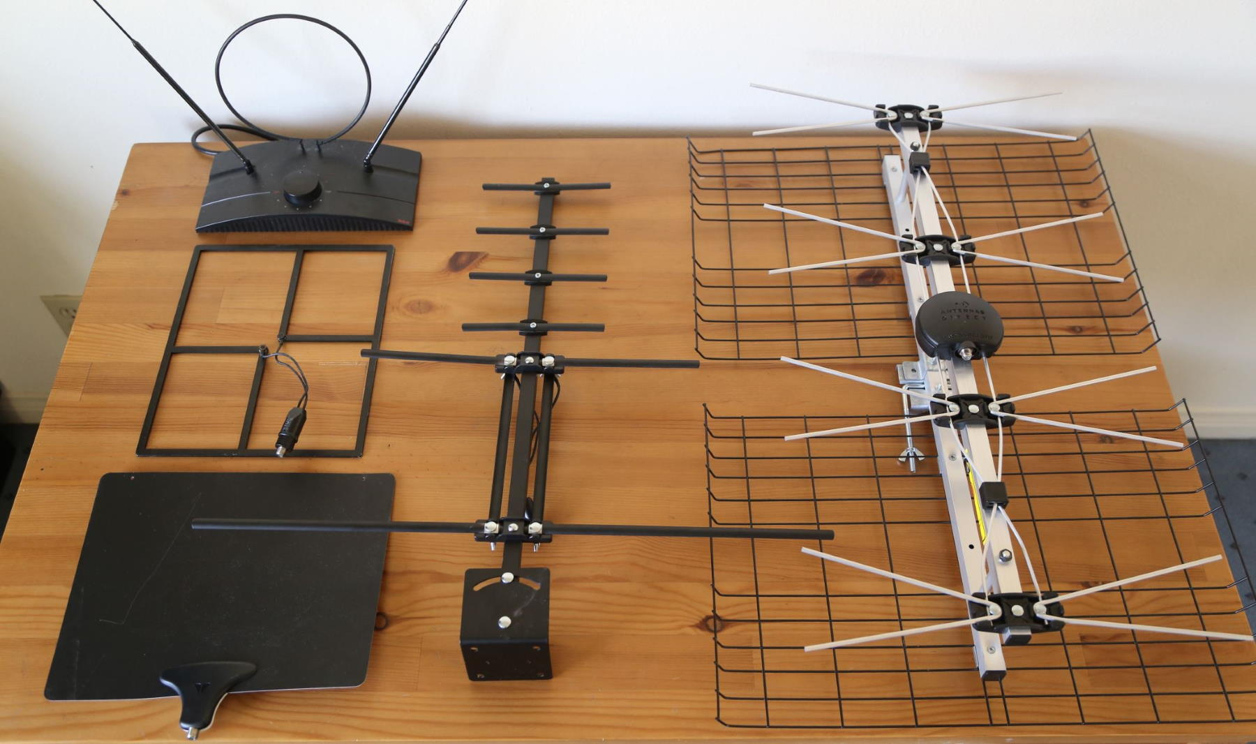Broadcast TV antennas that I have tested