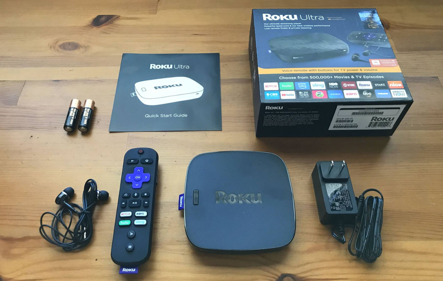 Roku Ultra with accessories
