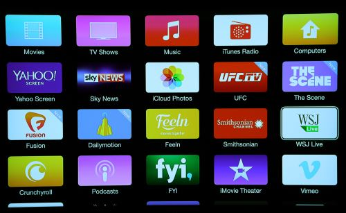 Apple TV apps screen 3