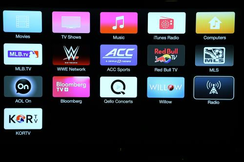 Apple TV apps screen 4